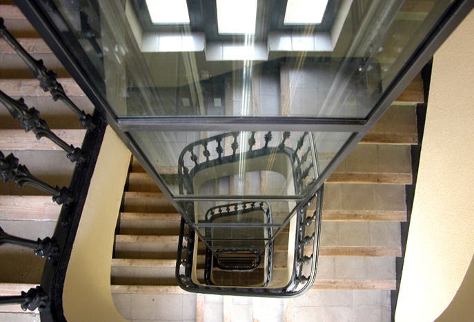 Ascensor de vidre ascensor de cristal glass lift for Ascensores para escaleras